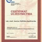 Certyfikat - Leczenie nadmiernej potliwości