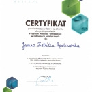 Certyfikaty Joanna Apolinarska