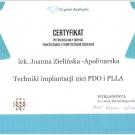 Certyfikat Joanna Zielińska